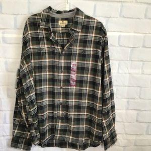 Woolrich Gray Plaid Button Down Shirt NWT